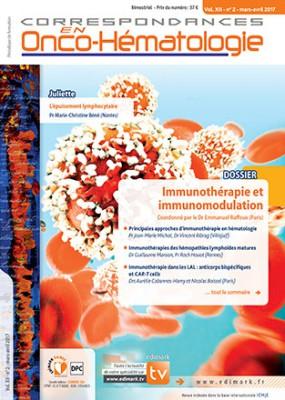 Correspondances en Onco-Hématologie avril 2017 Hight_23