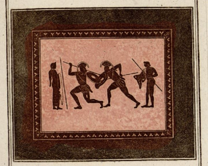 Antiquités étrusques, grecques et romaines - Tome 1 Combat10