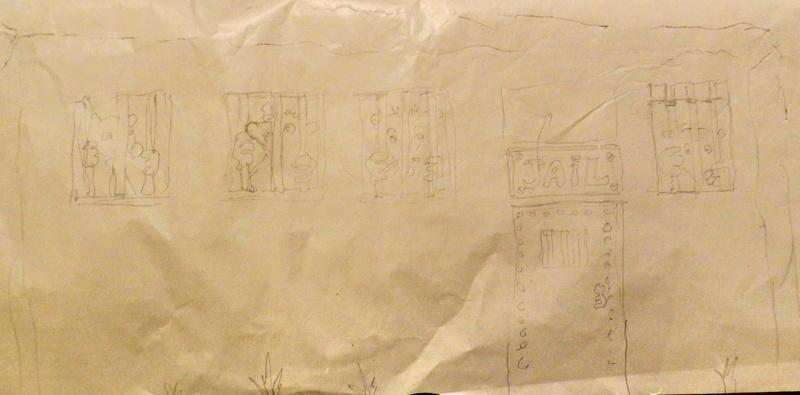 Habillage artistique d'un massif de béton Vauvyr23
