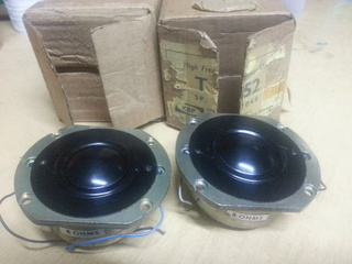 1 pair  kef   T52 Tweeter  (New) 20170321