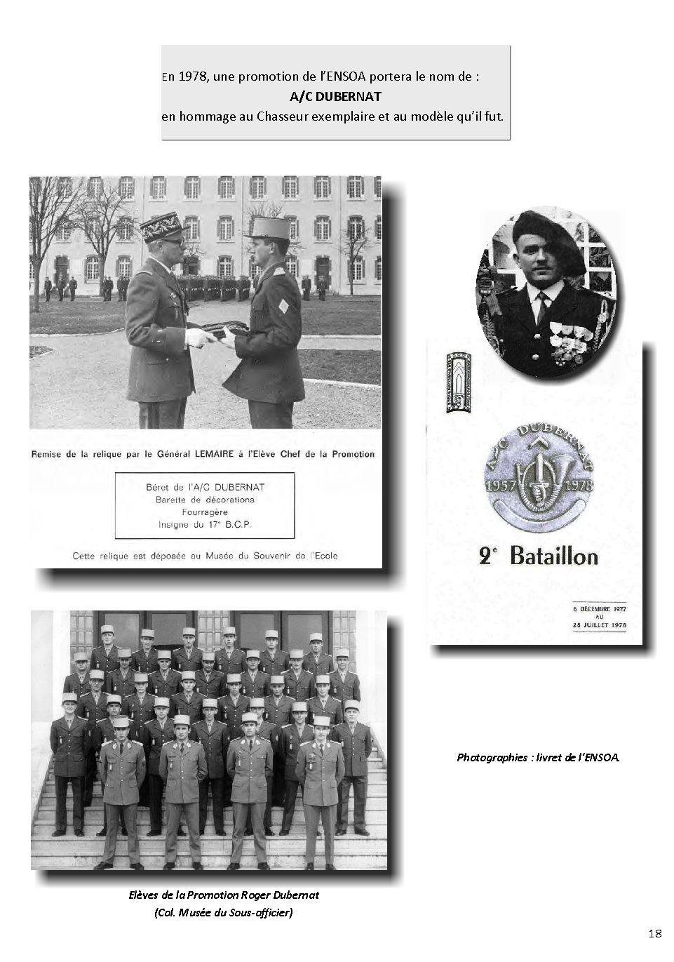 Adjudant-chef Roger DUBERNAT - 17e BCP Dubern33