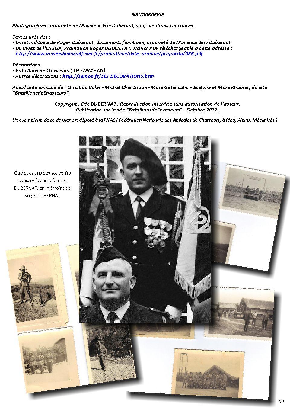 Adjudant-chef Roger DUBERNAT - 17e BCP Dubern43