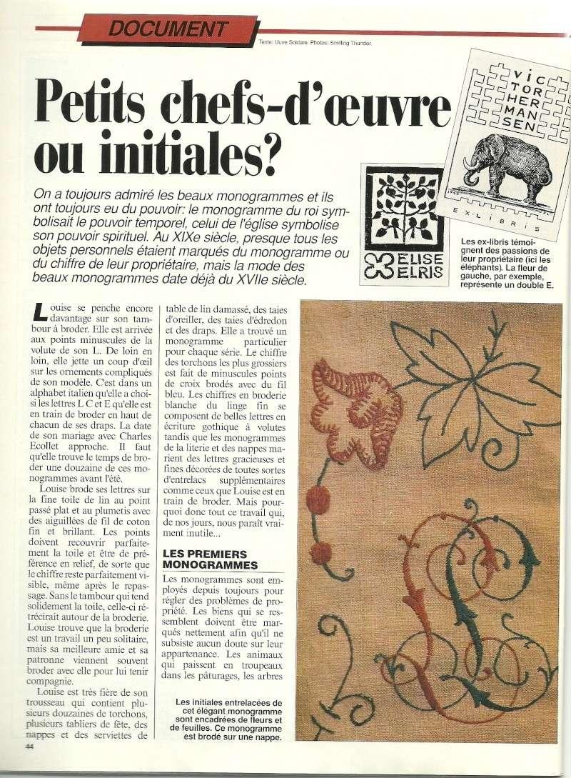 [Article] Le monogramme Dossie26