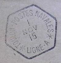 Bureau Embarqué du Croiseur Auxiliaire NUMIDIA - LIGNE A A24