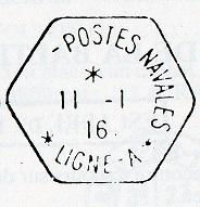 Bureau Embarqué du Croiseur Auxiliaire NUMIDIA - LIGNE A B24