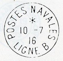 LIGNE B - Bureau Embarqué du Croiseur Auxiliaire ITALIA  C19