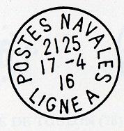 Bureau Embarqué du Croiseur Auxiliaire NUMIDIA - LIGNE A C20