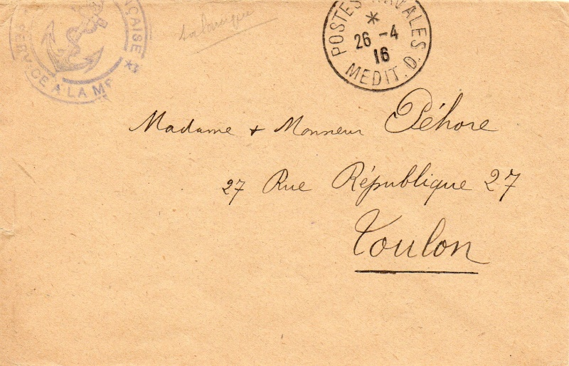* SALONIQUE, Bureau Postal Naval * Img00911