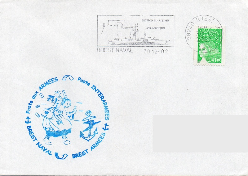 * BREST, Bureau Postal Naval * Img01210