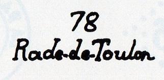 Cachets et Marques manuscrites de La Rade de Toulon 1771/1875 Img13310