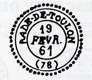 Cachets et Marques manuscrites de La Rade de Toulon 1771/1875 Img13511