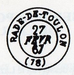 Cachets et Marques manuscrites de La Rade de Toulon 1771/1875 Img13710