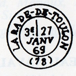 Cachets et Marques manuscrites de La Rade de Toulon 1771/1875 Img13911