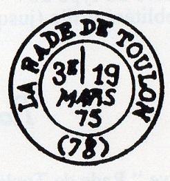 Cachets et Marques manuscrites de La Rade de Toulon 1771/1875 Img14110