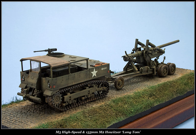 High Speed Tractor M5 et M2 155mm Gun Long Tom [Hasegawa - 1/72] M5hs-m10