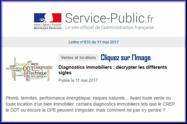 """La lettre N° 835 de """"Service Public"""" pour le 11 Mai 2017 83510"""