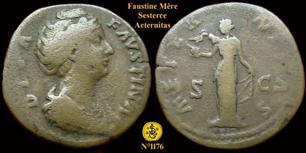 """Sur un sesterce de Faustine """"AETERNITAS"""" ... 117610"""