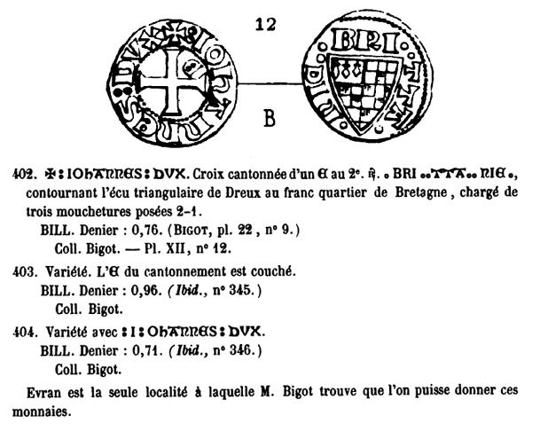 Denier de Bretagne pour Jean III le Bon (1312-1341) ... Pa_40210