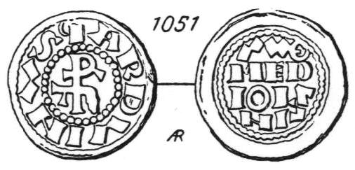 Denier Milanais d'Arduin d'Ivrée (1002-1015) ... Sambon10