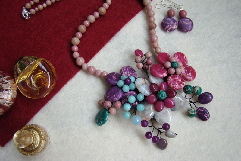 """""""Flori de piatră-Bijoux"""" albumul II-bijuterii artizanale marca Didina Sava - Pagina 15 Colie108"""