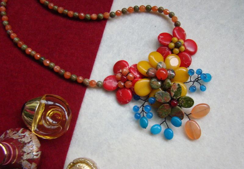 """""""Flori de piatră-Bijoux"""" albumul II-bijuterii artizanale marca Didina Sava - Pagina 15 Colie110"""