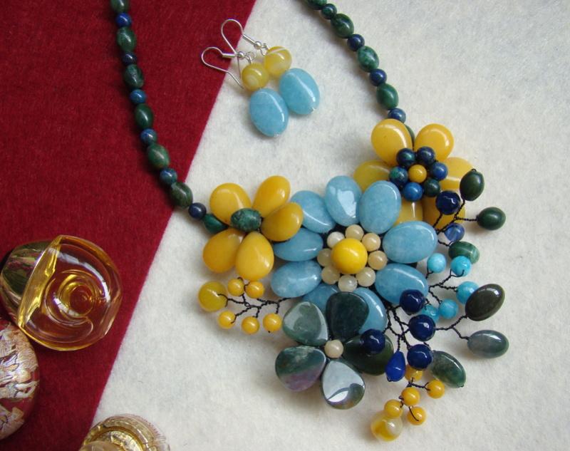 """""""Flori de piatră-Bijoux"""" albumul II-bijuterii artizanale marca Didina Sava - Pagina 15 Colie111"""