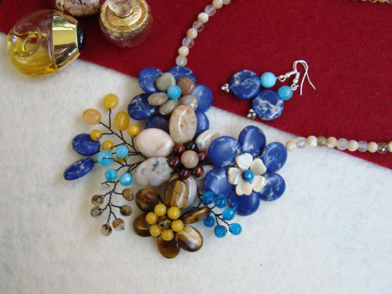 """""""Flori de piatră-Bijoux"""" albumul II-bijuterii artizanale marca Didina Sava - Pagina 15 Colie119"""