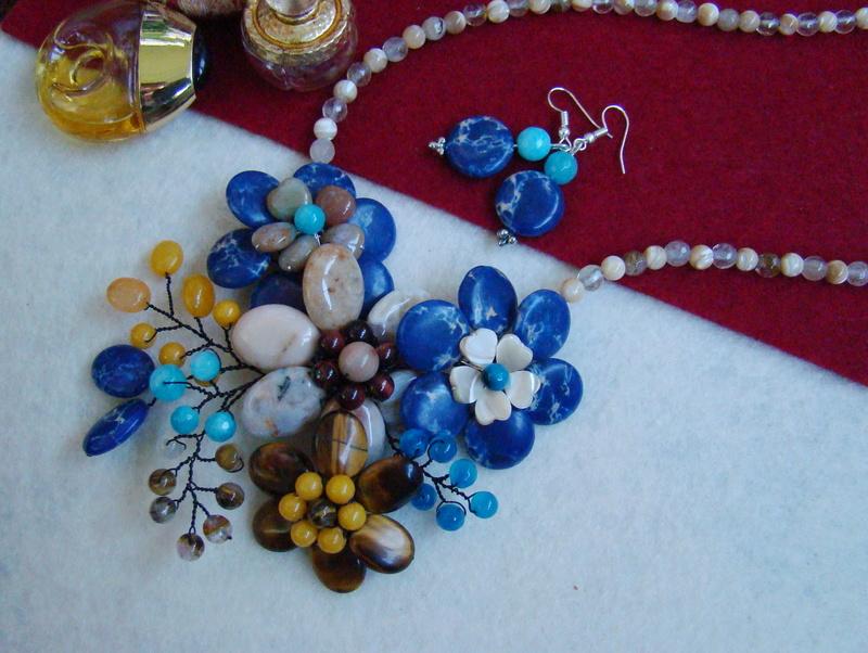 """""""Flori de piatră-Bijoux"""" albumul II-bijuterii artizanale marca Didina Sava - Pagina 15 Colie120"""