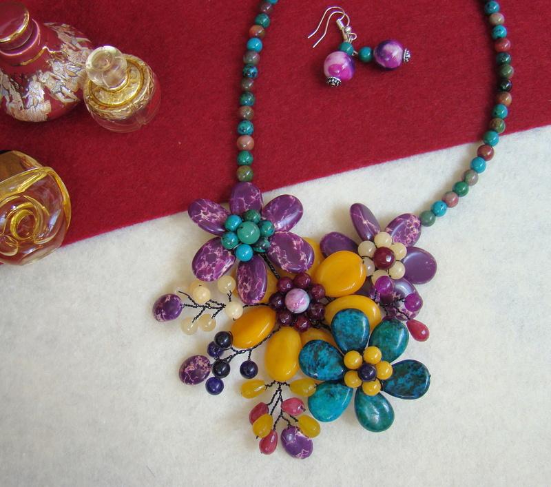 """""""Flori de piatră-Bijoux"""" albumul II-bijuterii artizanale marca Didina Sava - Pagina 12 Colie131"""