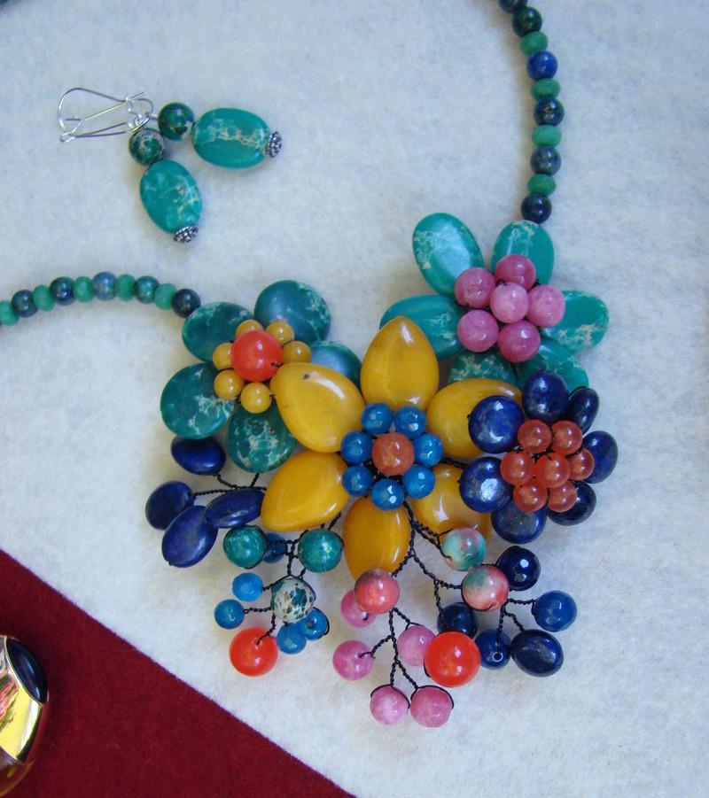 """""""Flori de piatră-Bijoux"""" albumul II-bijuterii artizanale marca Didina Sava - Pagina 12 Colie140"""