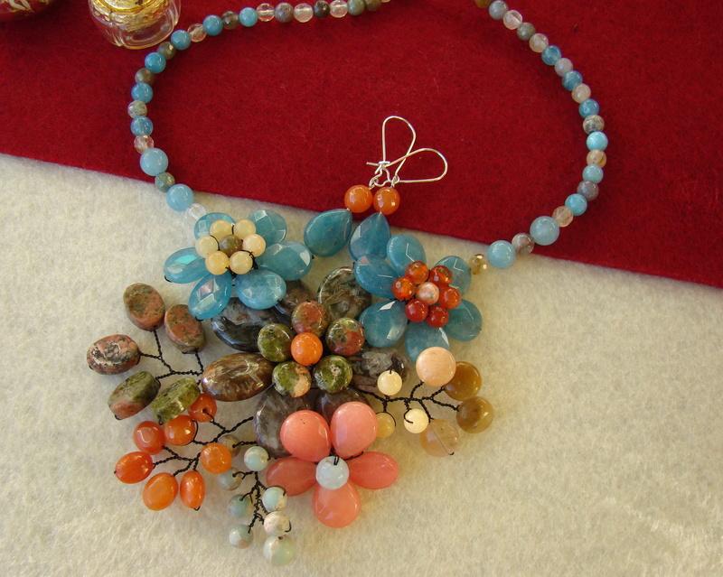 """""""Flori de piatră-Bijoux"""" albumul II-bijuterii artizanale marca Didina Sava - Pagina 12 Colie142"""