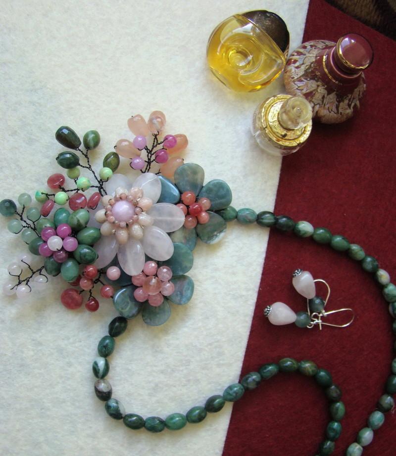 """""""Flori de piatră-Bijoux"""" albumul II-bijuterii artizanale marca Didina Sava - Pagina 12 Colie145"""