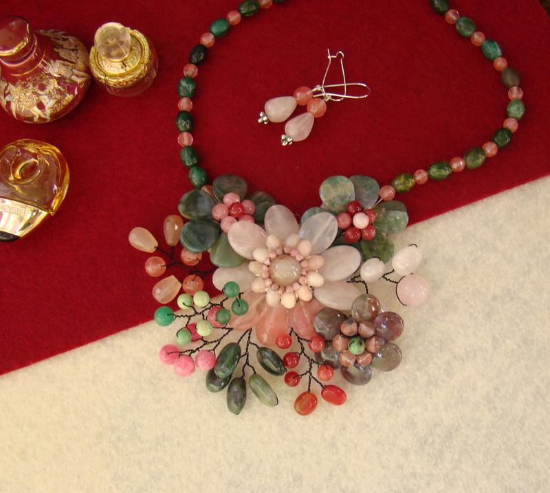"""""""Flori de piatră-Bijoux"""" albumul II-bijuterii artizanale marca Didina Sava - Pagina 12 Colie160"""