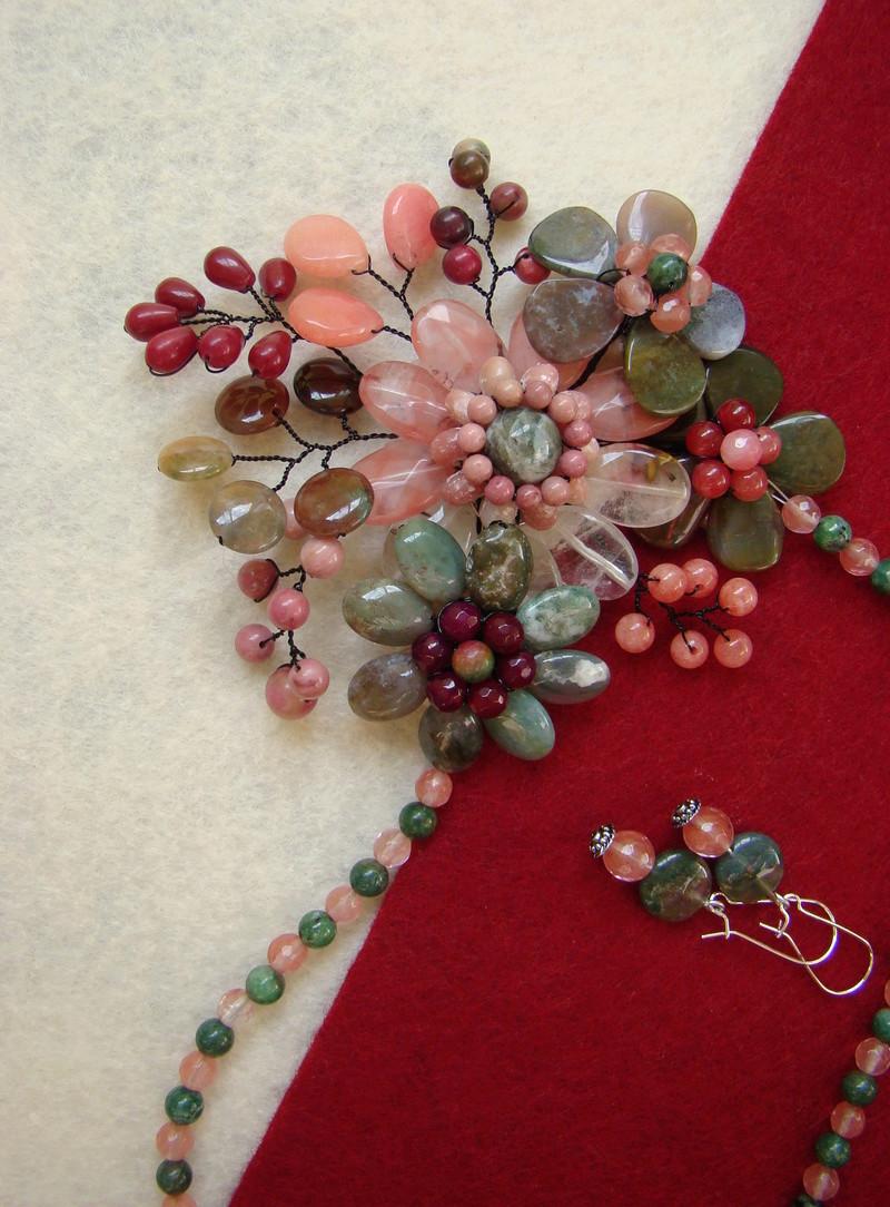 """""""Flori de piatră-Bijoux"""" albumul II-bijuterii artizanale marca Didina Sava - Pagina 10 Colie164"""