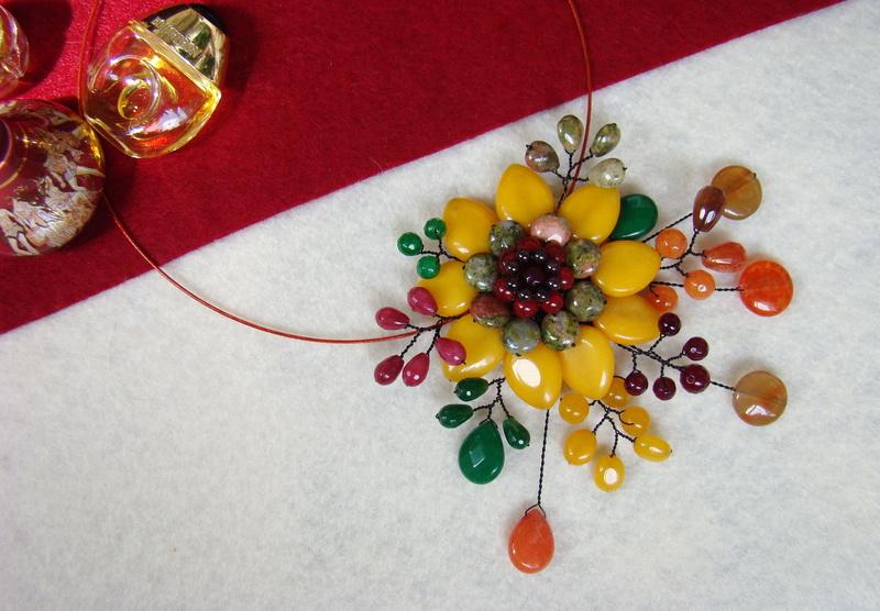 """""""Flori de piatră-Bijoux"""" albumul II-bijuterii artizanale marca Didina Sava - Pagina 10 Colie165"""