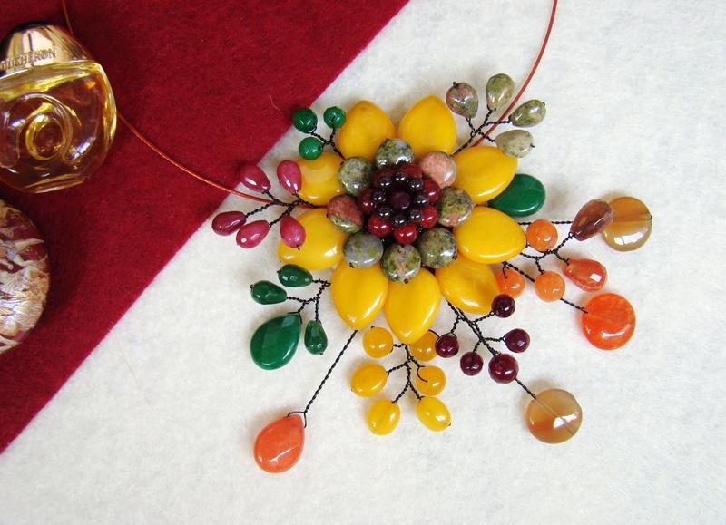 """""""Flori de piatră-Bijoux"""" albumul II-bijuterii artizanale marca Didina Sava - Pagina 10 Colie166"""