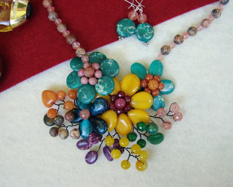 """""""Flori de piatră-Bijoux"""" albumul II-bijuterii artizanale marca Didina Sava - Pagina 10 Colie174"""