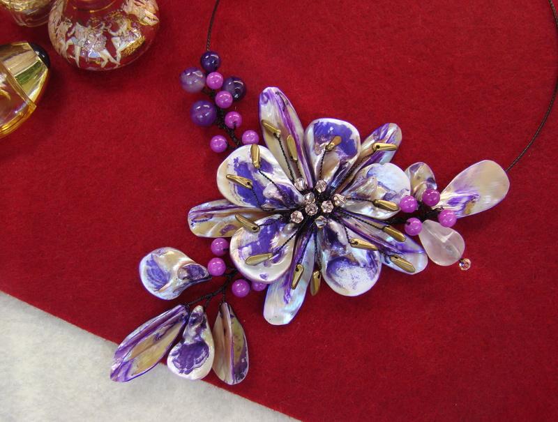 """""""Flori de piatră-Bijoux"""" albumul II-bijuterii artizanale marca Didina Sava - Pagina 10 Colie184"""