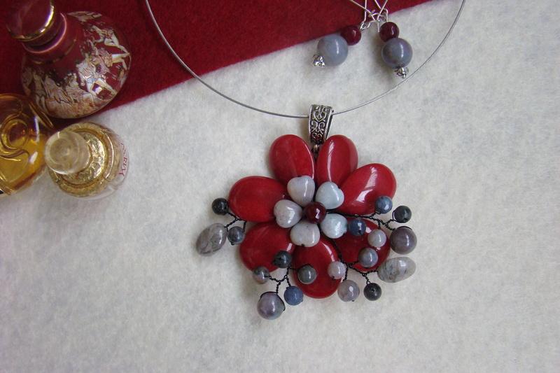 """""""Flori de piatră-Bijoux"""" albumul II-bijuterii artizanale marca Didina Sava - Pagina 10 Colie185"""