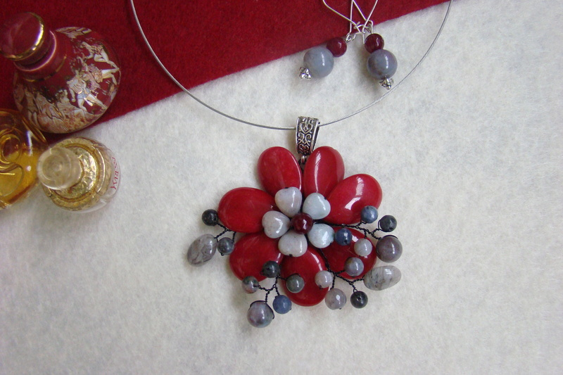 """""""Flori de piatră-Bijoux"""" albumul II-bijuterii artizanale marca Didina Sava - Pagina 10 Colie186"""