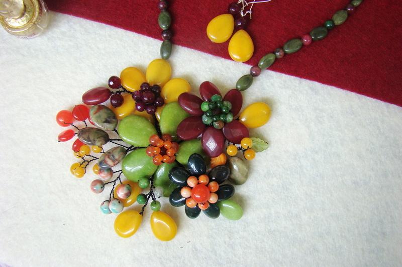 """""""Flori de piatră-Bijoux"""" albumul II-bijuterii artizanale marca Didina Sava - Pagina 10 Colie187"""