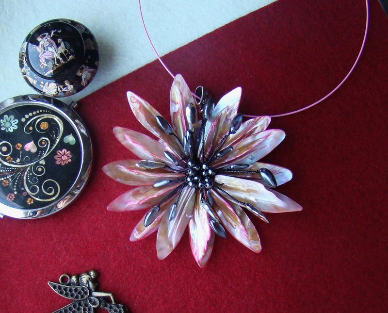 """""""Flori de piatră-Bijoux"""" albumul II-bijuterii artizanale marca Didina Sava - Pagina 10 Colie193"""