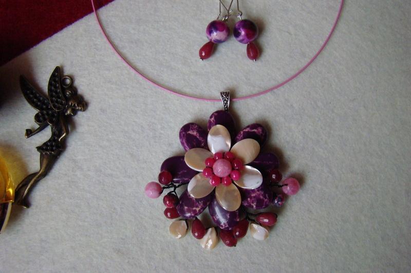 """""""Flori de piatră-Bijoux"""" albumul I-bijuterii artizanale marca Didina Sava Colier55"""