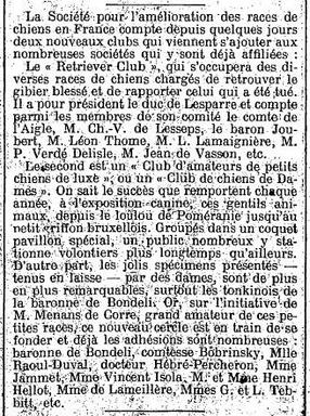 Naissance du Retriever Club, premier Bureau... Test123