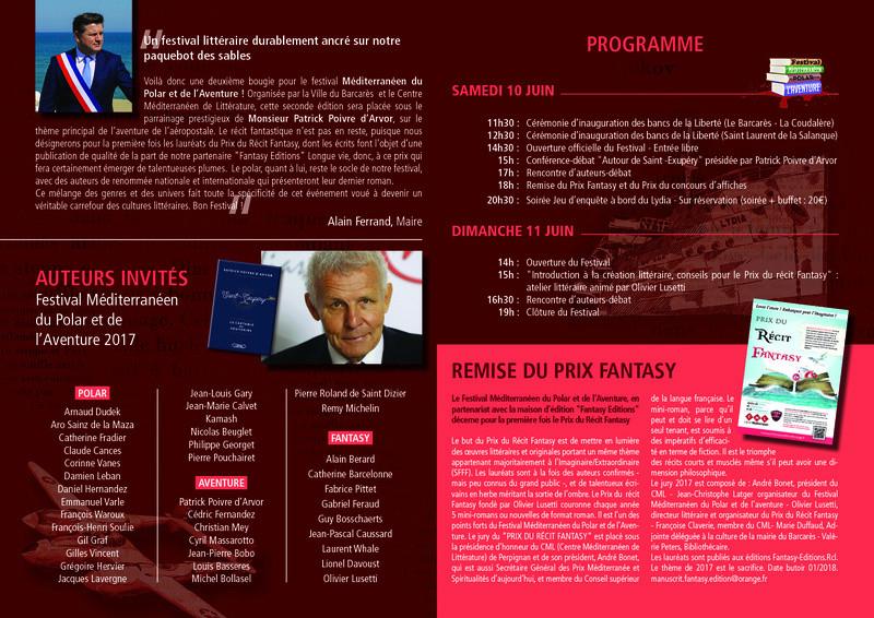 Le Prix du récit fantasy du Festival méditerranéen du polar et de l'aventure Festiv12
