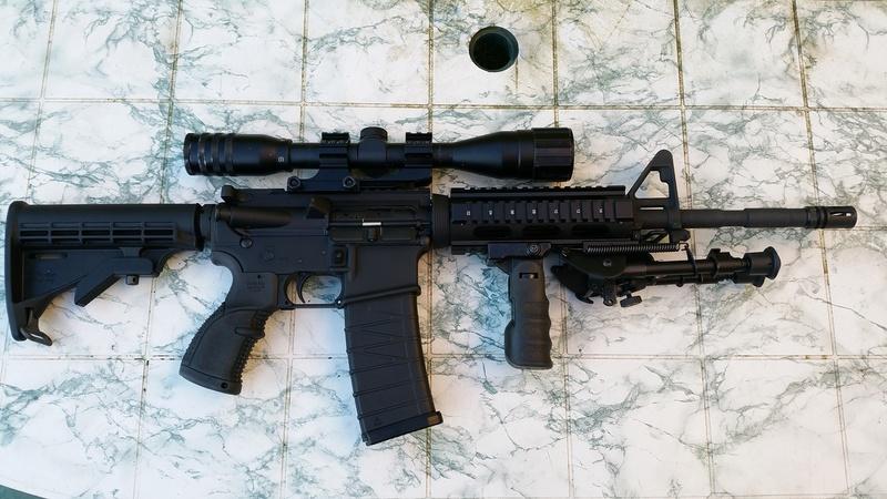 carabine M4 custom en 223 remington. 20170322