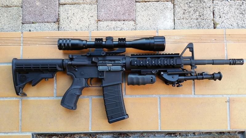 carabine M4 custom en 223 remington. 20170326