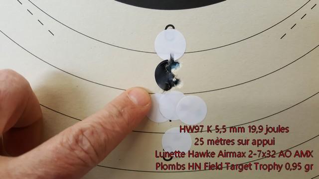 Essais de la HW97K en 5,5 mm et 20 joules 20170213