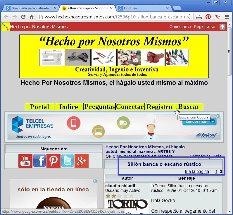 Nueva forma de buscar en el Foro con Google Busgoo18
