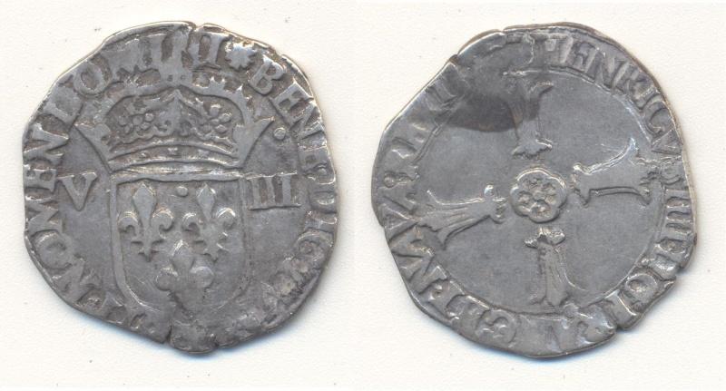 Huitieme d'écu Henri IV à identifier Huitia10